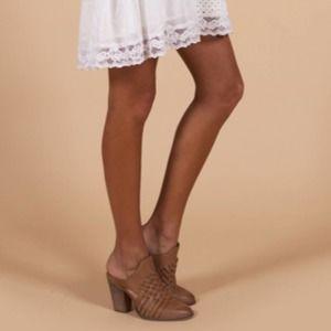 Seychelles Anthropologie Women's Tan Leather Mule